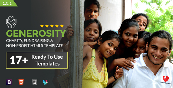 Generosity – Charity, Fundraising & Non-Profit HTML5 Template