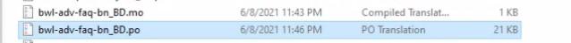 .po and .mo files